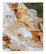 Canary Spring Mammoth Hot Springs Upper Terraces Fleece Blanket