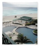 Cancun Beach Resort Fleece Blanket