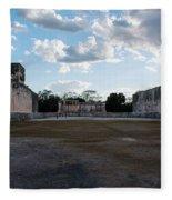 Cancun Mexico - Chichen Itza - Great Ball Court - Open End Fleece Blanket