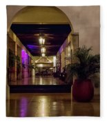 Cancun Mexico - Chichen Itza - Mayan Dining Hall Fleece Blanket