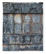 Cancun Mexico - Chichen Itza - Skull Platform Fleece Blanket