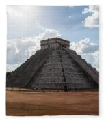 Cancun Mexico - Chichen Itza - Temple Of Kukulcan-el Castillo Pyramid 1 Fleece Blanket