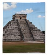 Cancun Mexico - Chichen Itza - Temple Of Kukulcan-el Castillo Pyramid 2 Fleece Blanket