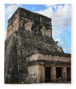 Cancun Mexico - Chichen Itza - Temples Of The Jaguar On The Great Ball Court Fleece Blanket