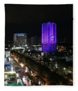 Cancun Mexico - Downtown Cancun Fleece Blanket