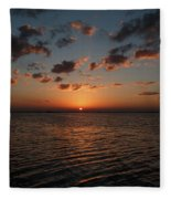 Cancun Mexico - Sunset Over Cancun Fleece Blanket