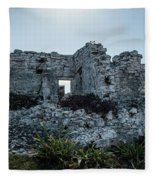 Cancun Mexico - Tulum Ruins - Palace Fleece Blanket
