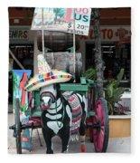 Cancun Mexico - Tulum Ruins - Souvenirs Fleece Blanket