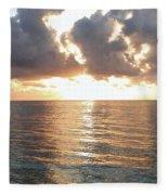 Cancun Sunrise Fleece Blanket