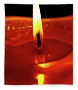 Candle Flame Fleece Blanket