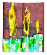 Candle In The Window Fleece Blanket