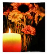Candle Lit Fleece Blanket