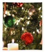 Candles For Christmas 2 Fleece Blanket