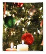 Candles For Christmas 5 Fleece Blanket