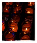 Candles For Mother Maria Fleece Blanket
