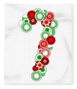 Candy Cane - Christmas Ornaments - Holiday Season Fleece Blanket
