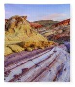 Candy Cane Desert Fleece Blanket