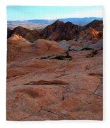 Candy Cliffs Sunset Fleece Blanket