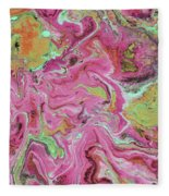 Candy Coated- Abstract Art By Linda Woods Fleece Blanket