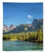 Canmore Alberta Golden Hour Fleece Blanket