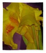 Canna Flower Fleece Blanket