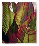 Canna Leaves 2   Fleece Blanket