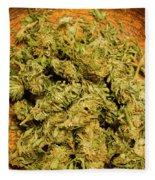 Cannabis Bowl Fleece Blanket