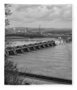 Cannelton Locks And Dam Fleece Blanket