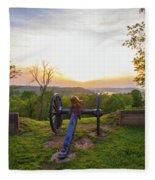 Cannon At Fort Boreman Fleece Blanket