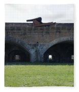 Cannon At Fort Pickens Fleece Blanket