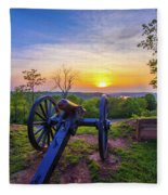 Cannon At Sunset Fleece Blanket