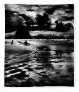 Cannon Beach At Dusk Fleece Blanket