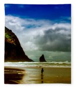 Cannon Beach At Dusk IIi Fleece Blanket