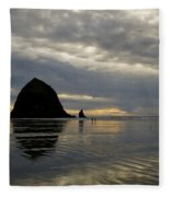 Cannon Beach Reflections Fleece Blanket