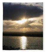 Cannon Beach Sunburst Fleece Blanket