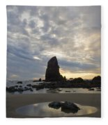 Cannon Beach Sunset 1 Fleece Blanket