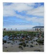 Cannon Beach Tide Pools Fleece Blanket