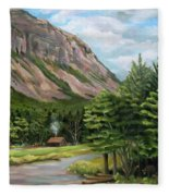 Cannon Cliff New Hampshire Fleece Blanket