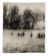 Cannon Fire At Gettysburg  Fleece Blanket