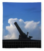 Cannons At Fort Moultrie Charleston Fleece Blanket