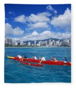 Canoe Race Fleece Blanket