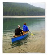 Canoeing Glacier Park Fleece Blanket