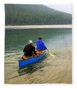 Canoeing Glacier Park Fleece Blanket