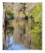Canoing On Hillsborough River Fleece Blanket