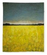 Canola Field N0 1 Fleece Blanket