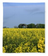 Canola Field Fleece Blanket