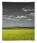 Canola Hills And Dales Fleece Blanket
