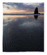 Canon Beach At Sunset 6 Fleece Blanket