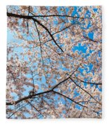 Canopy Of Cherry Blossoms Fleece Blanket