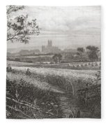 Canterbury, Kent, England Seen From Fleece Blanket